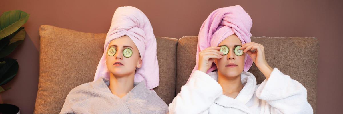skin pampering