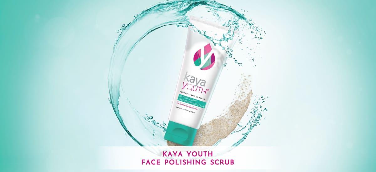 skin pampering using Face Scrub
