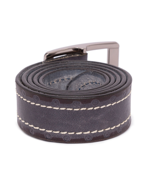 Grey Leather Belts