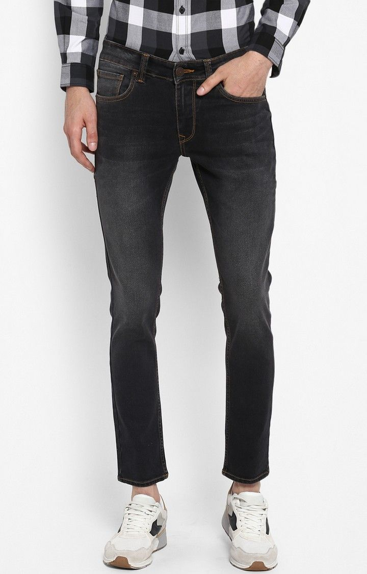 Carbon Black Solid Super Skinny Fit Jeans