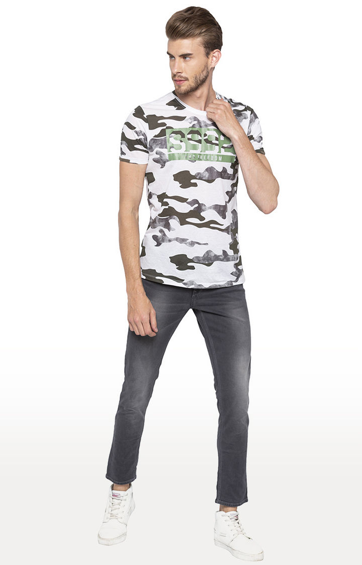 Spykar Grey Solid Super Skinny Fit Jeans