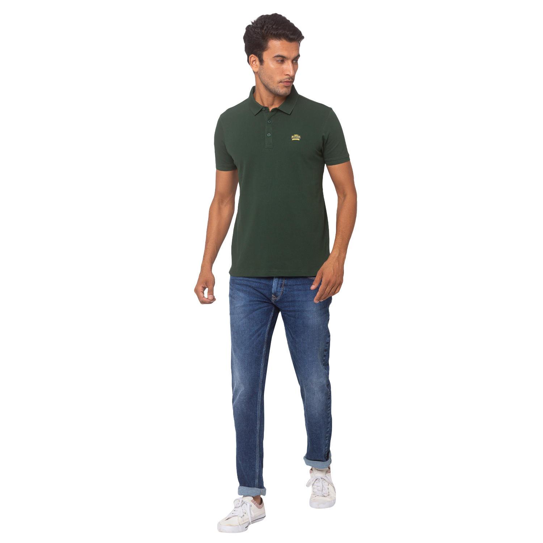 Spykar Cotton Green T-Shirts