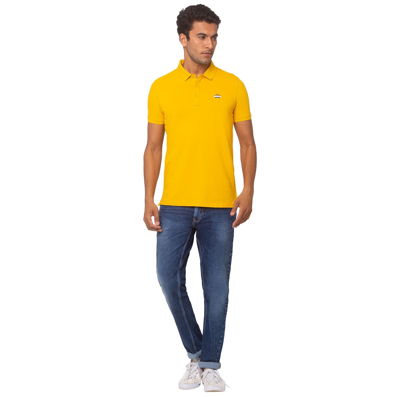 Spykar Cotton Yellow T-Shirts