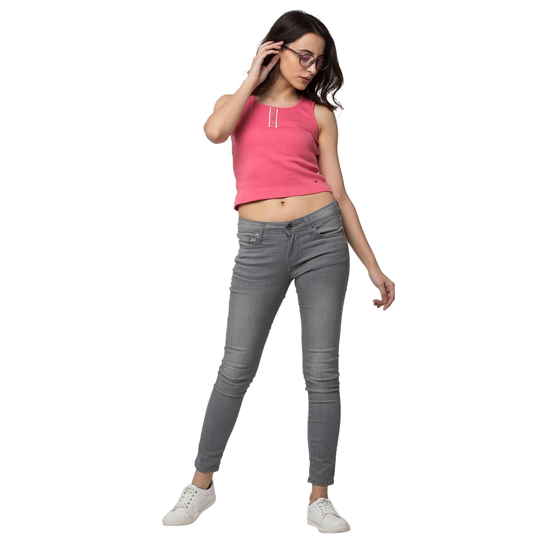 Spykar Grey Cotton Jeans