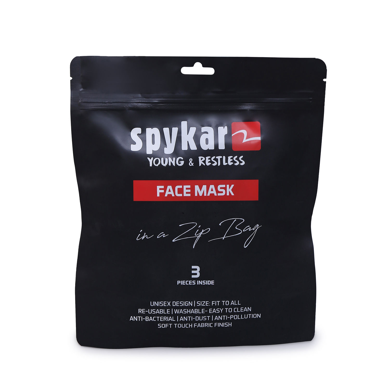 Spykar Designer Face Mask Combo Set of 3