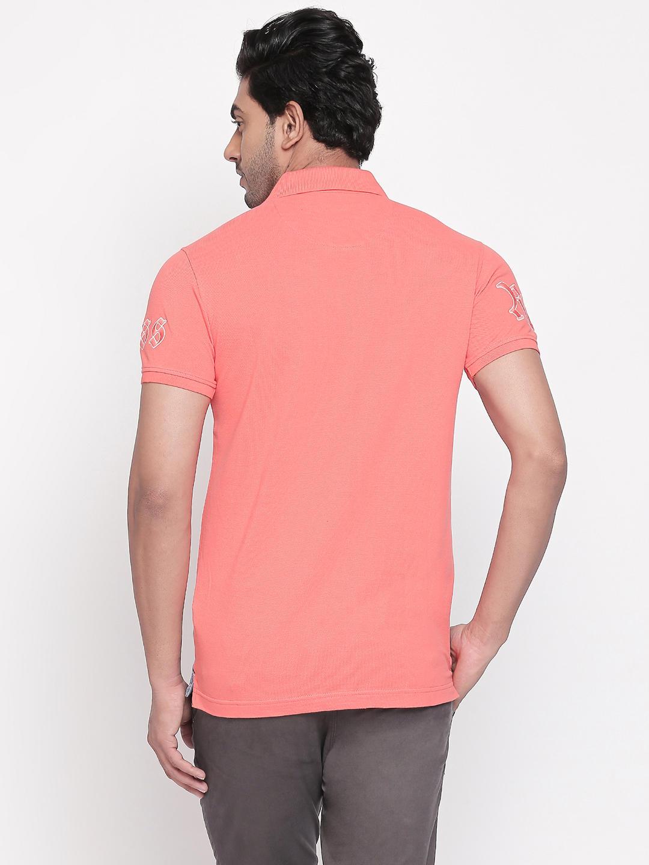 Coral Colourblock Slim Fit Polo T-Shirt
