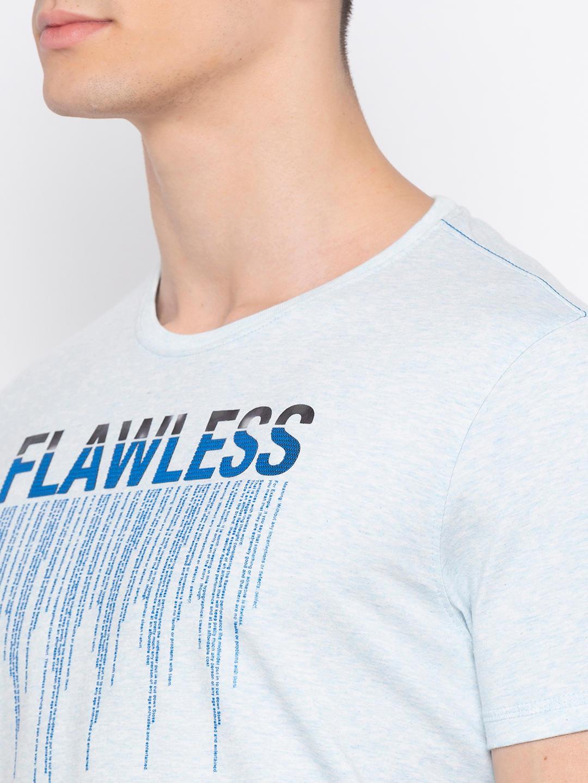 Blue Printed T-Shirt