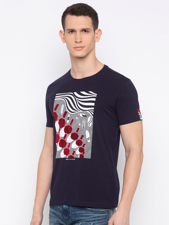 Navy Printed T-Shirt