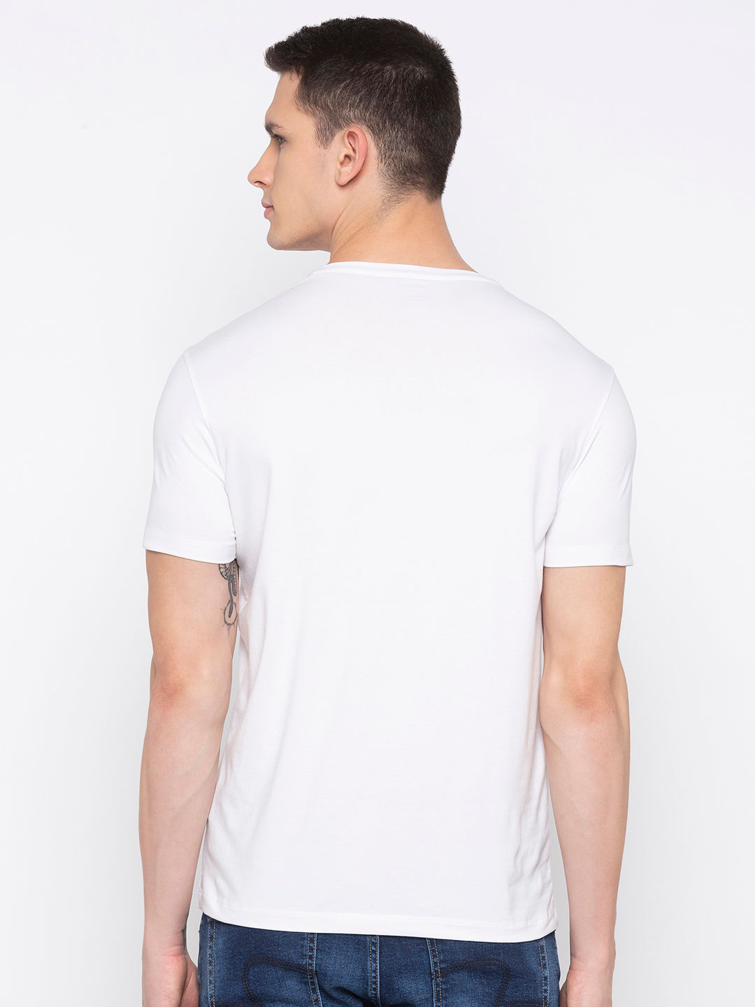 White Printed T-Shirt