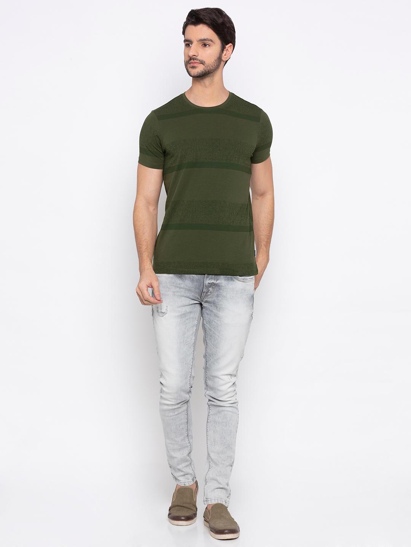 Olive Striped T-Shirt