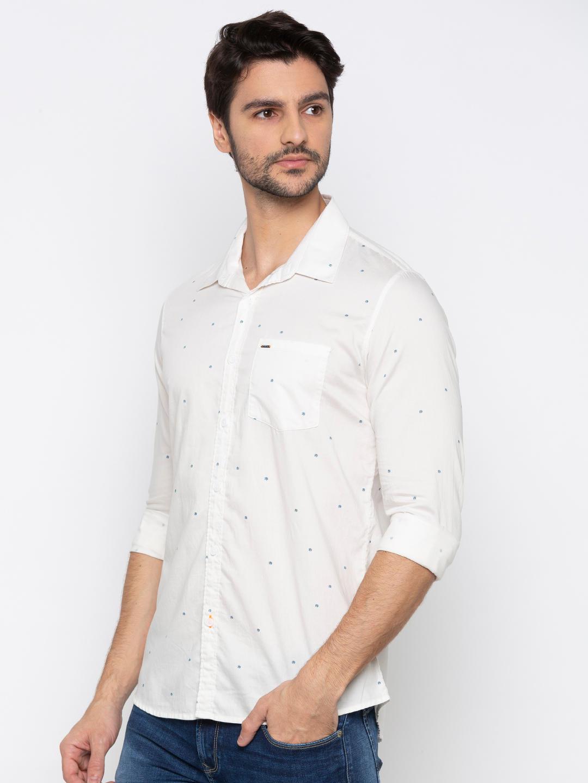 Ecru Printed Casual Shirt