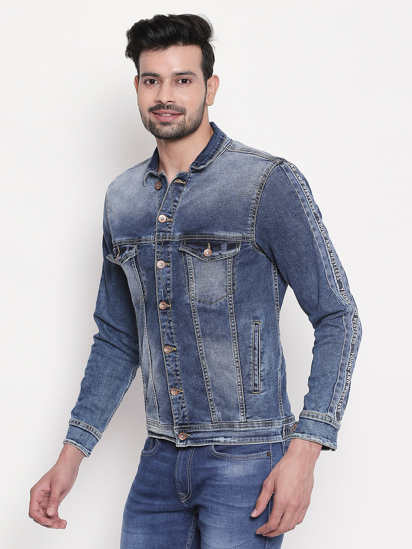 Mid Blue Faded Denim Jacket