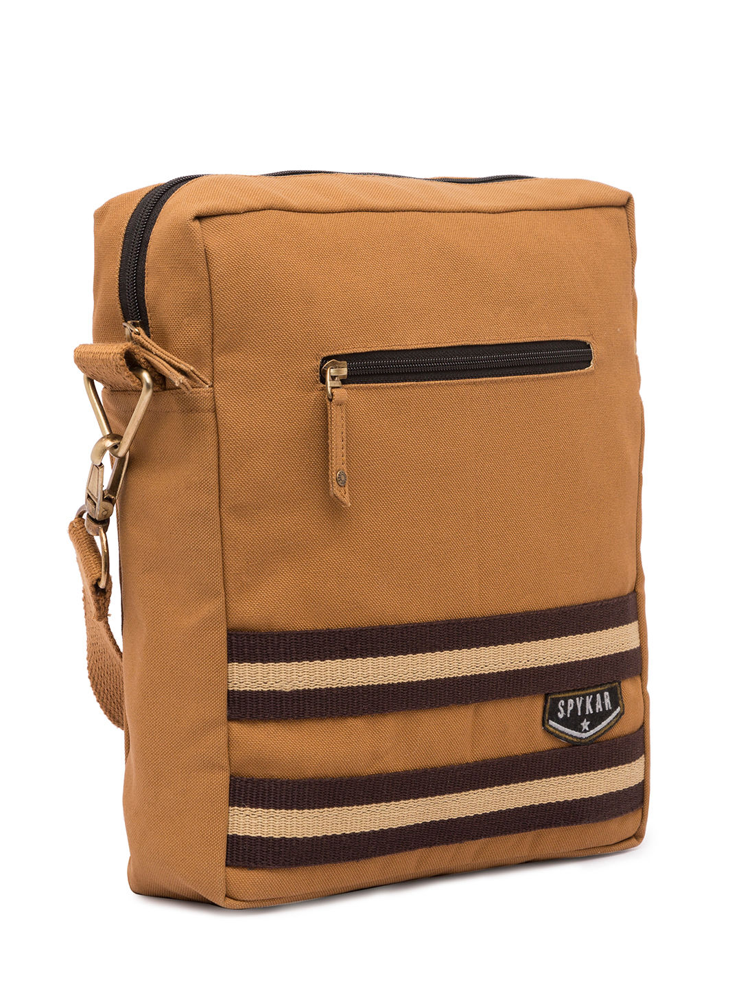Spykar Light Brown Canvas Messenger Bag