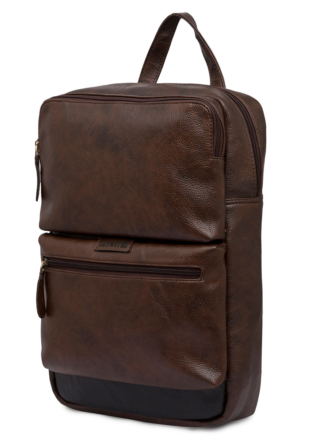 Spykar Brown Polyester Backpack