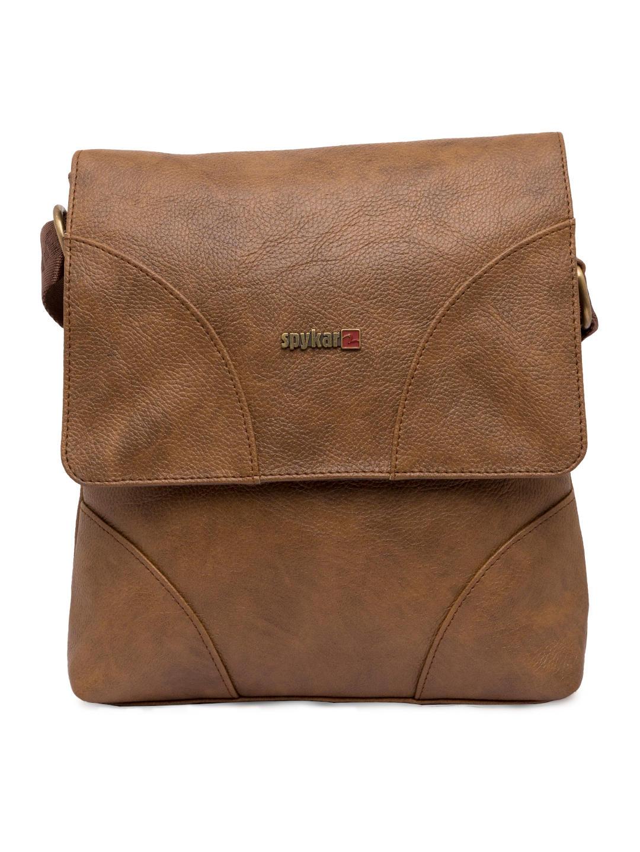 Spykar Light Brown Geniune Leather Messenger Bag