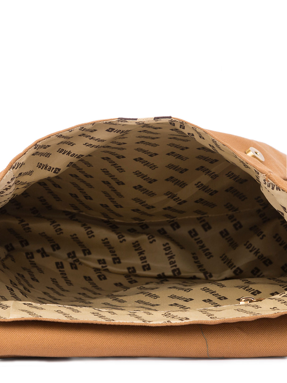 Spykar Light Brown Canvas Messenger Bag
