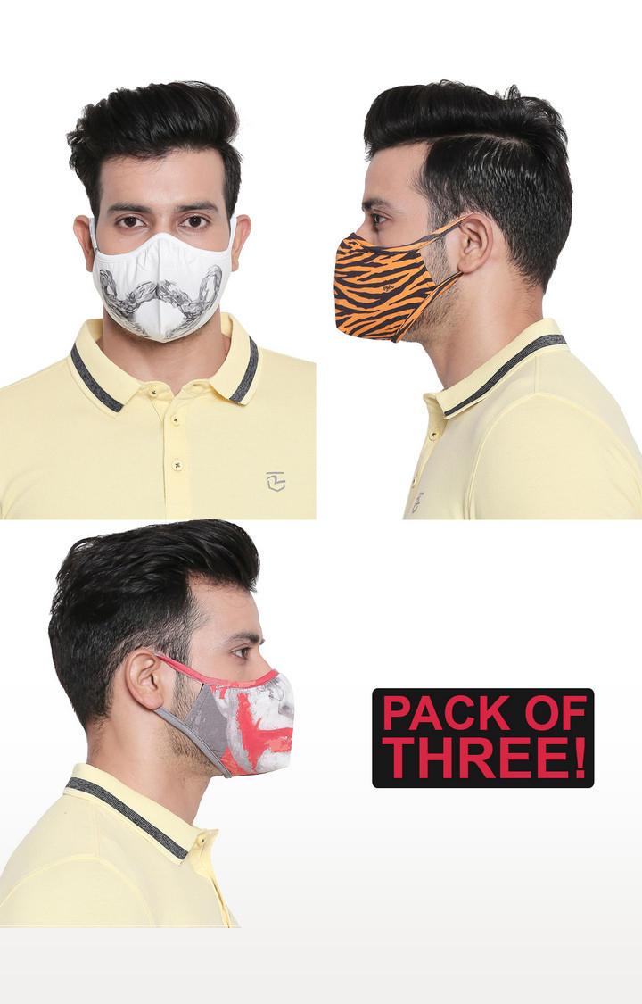 Assorted Designer Face Mask - Set of 3