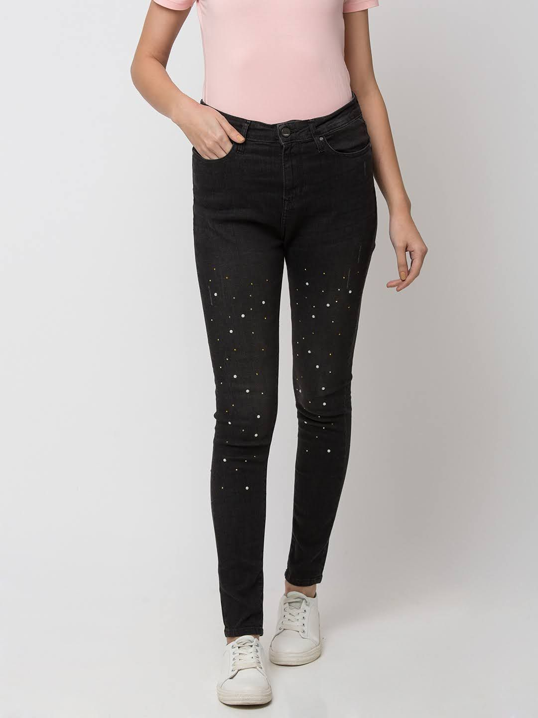 Spykar Cotton Black JEANS
