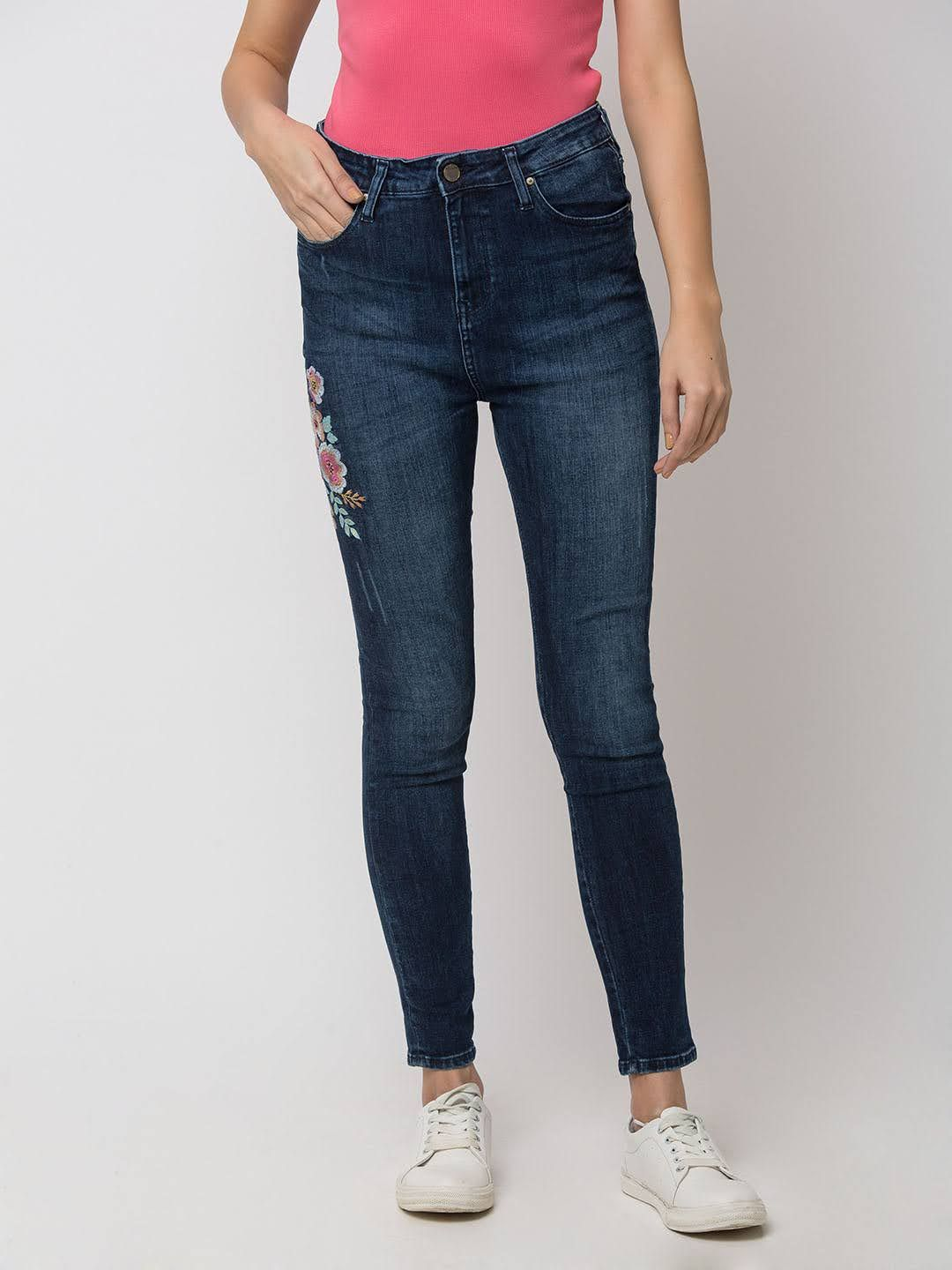 Spykar Cotton Blue JEANS
