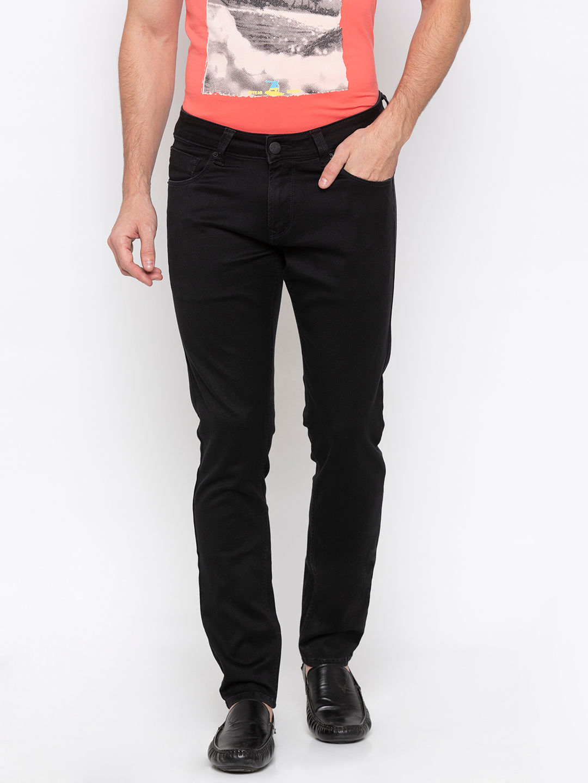 Black Solid Super Skinny Fit Jeans