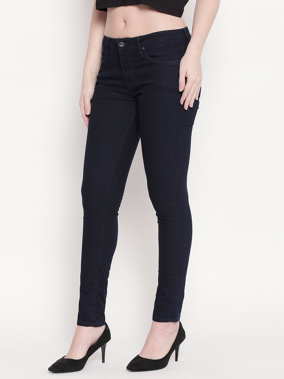 Raw Blue Low-rise Waist Super Skinny Fit Jeans