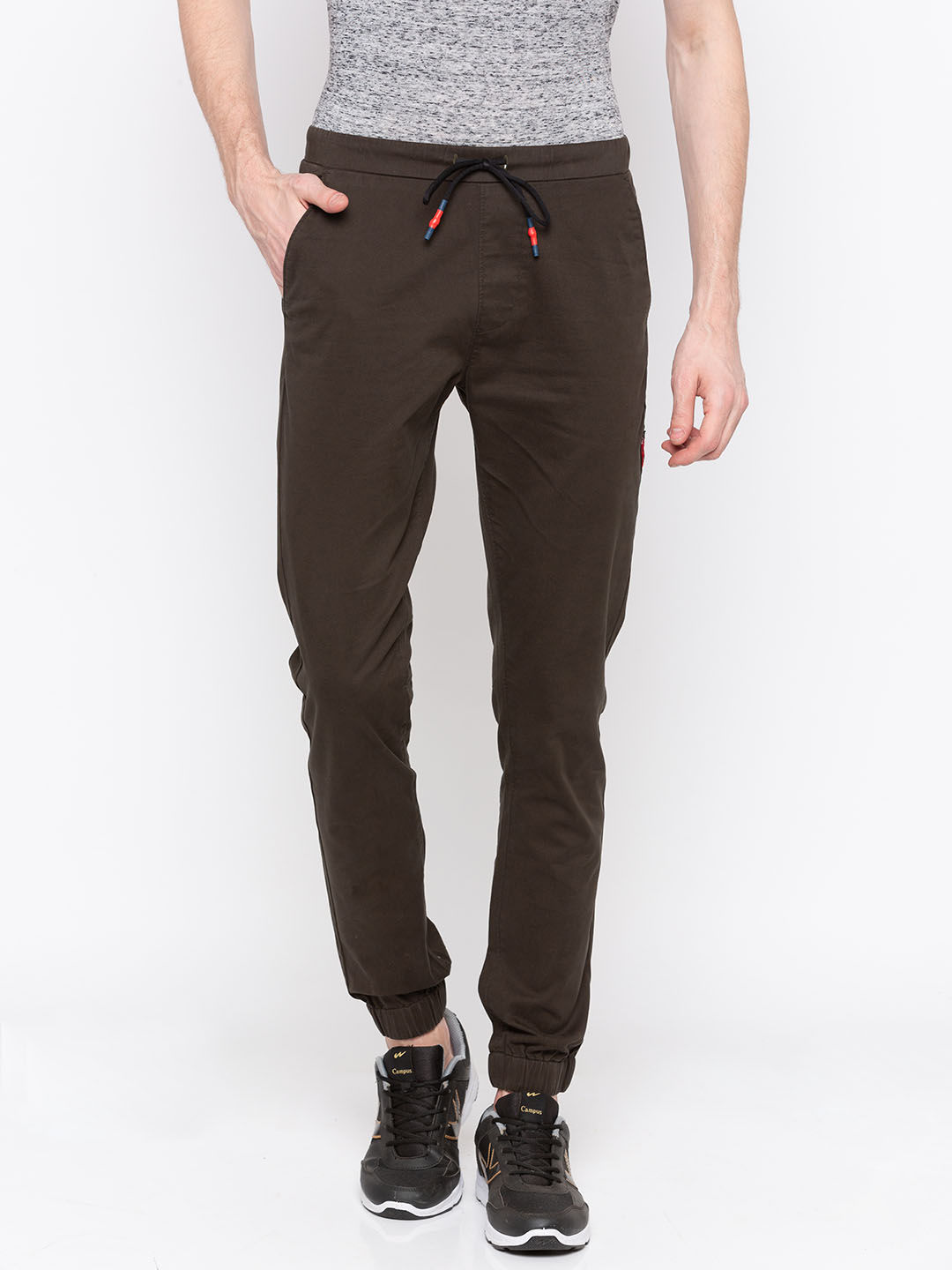 Olive Solid jogger Fit Joggers