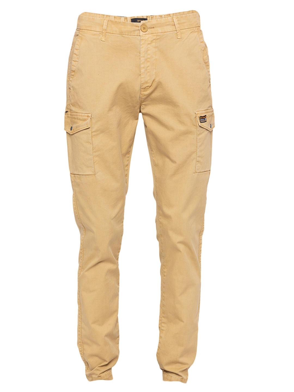 Khaki Solid Slim Fit Joggers