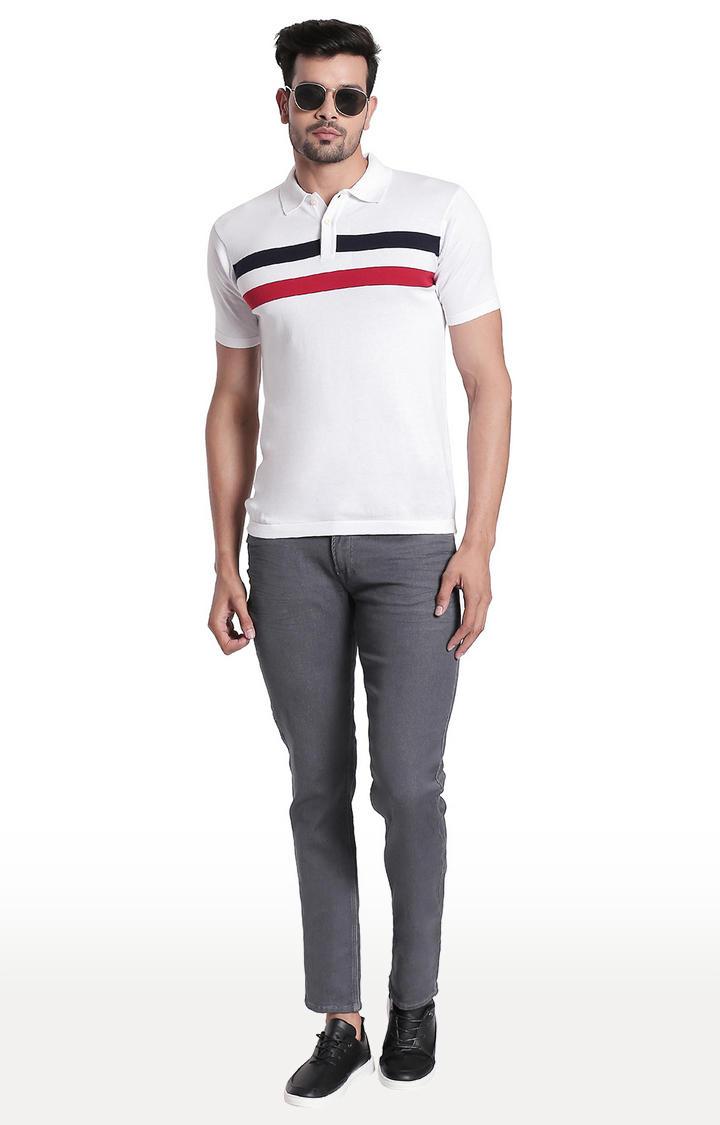 Grey Solid Regular Fit Jeans