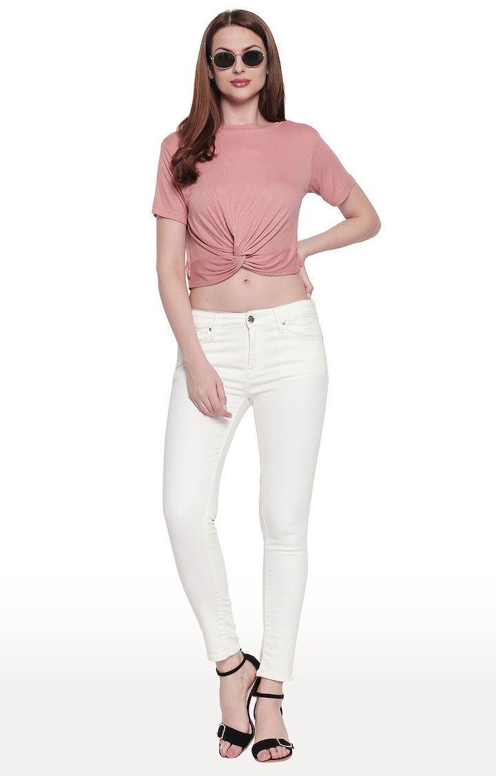 White Solid Super Skinny Fit Jeans