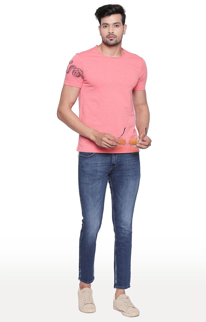Coral Melange Slim Fit T-Shirt