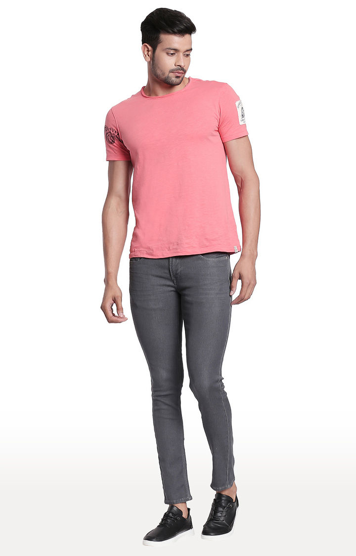 Grey Solid Super Skinny Fit Jeans