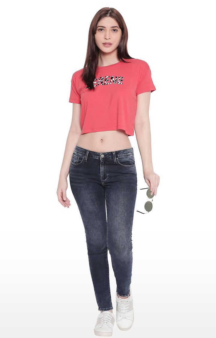 Dark Blue Low-rise Waist Super Skinny Fit Jeans
