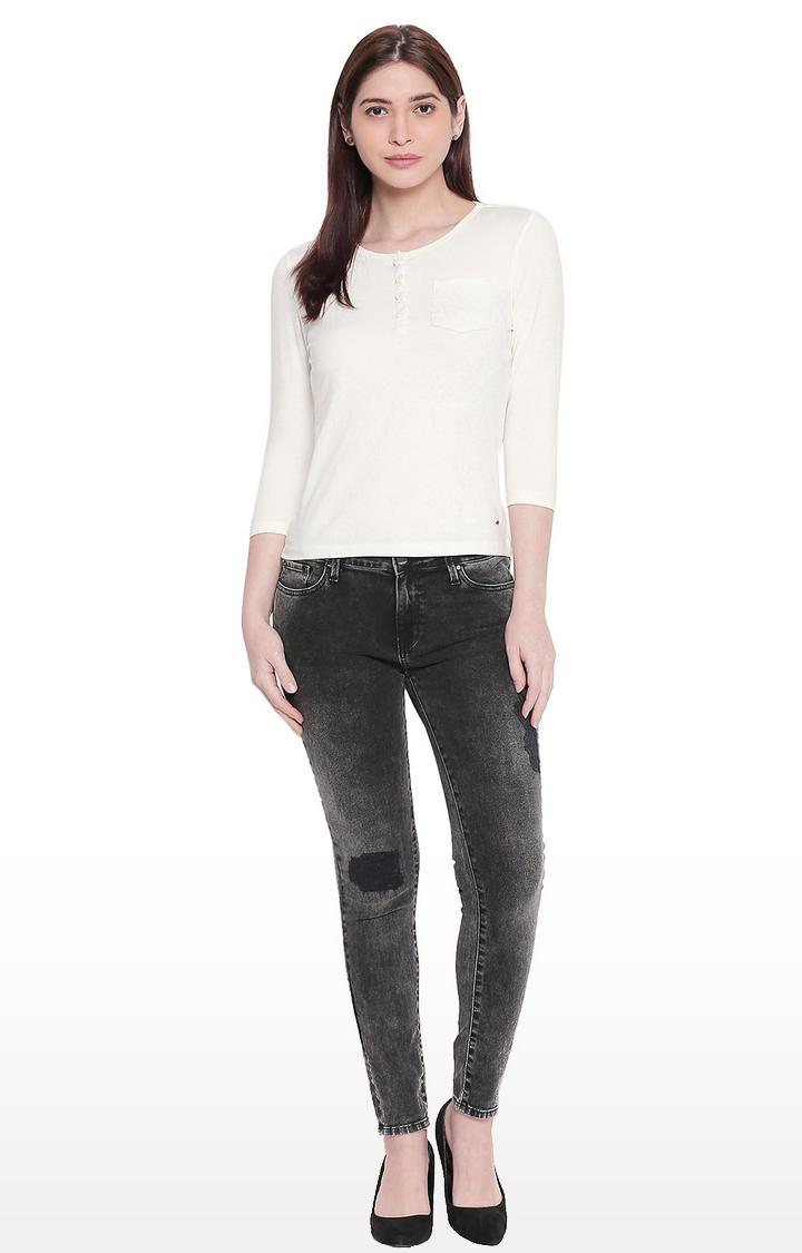 Carbon Black Low-rise Waist Super Skinny Fit Jeans