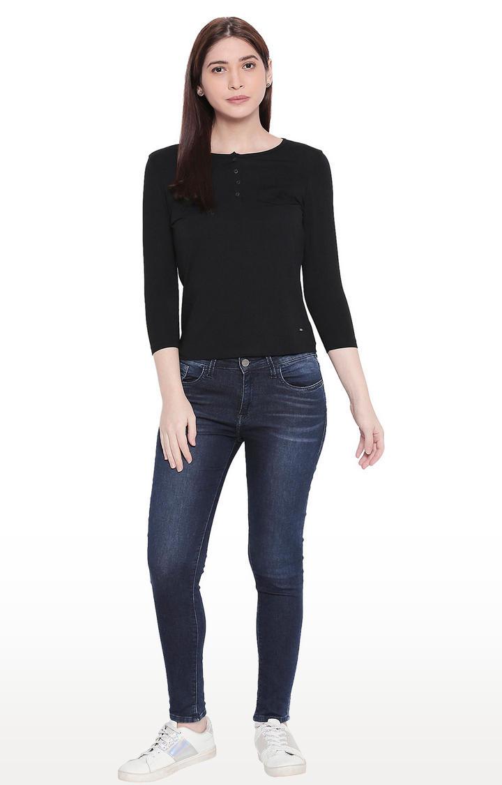 Blue Low-rise Waist Super Skinny Fit Jeans