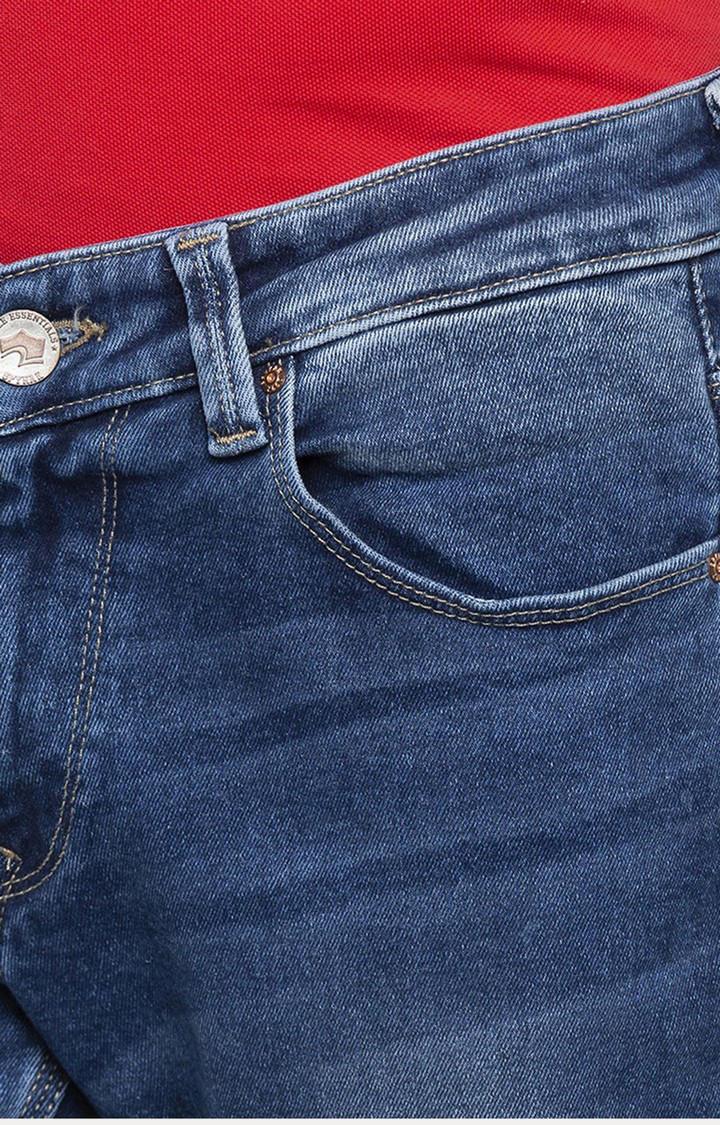 Spykar Mid Blue Solid Skinny Fit Jeans