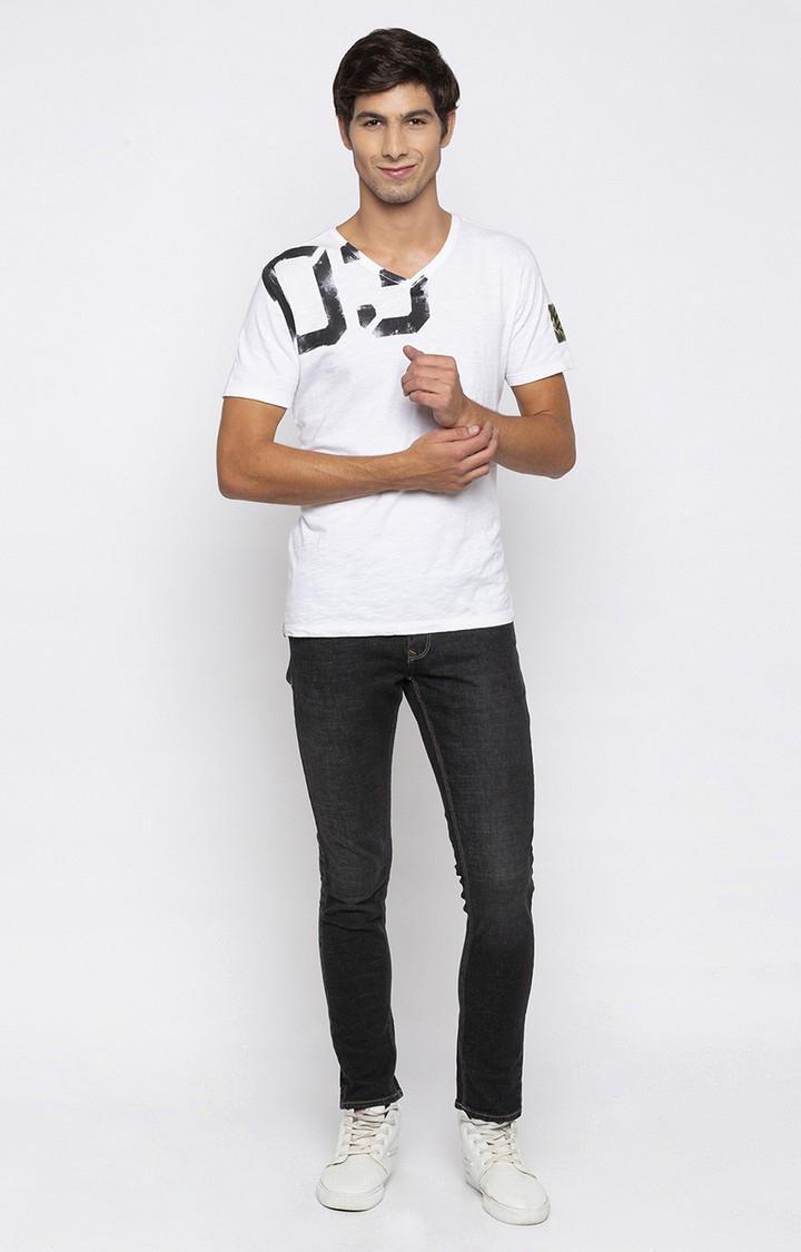 Spykar Carbon Black Solid Super Skinny Fit Jeans