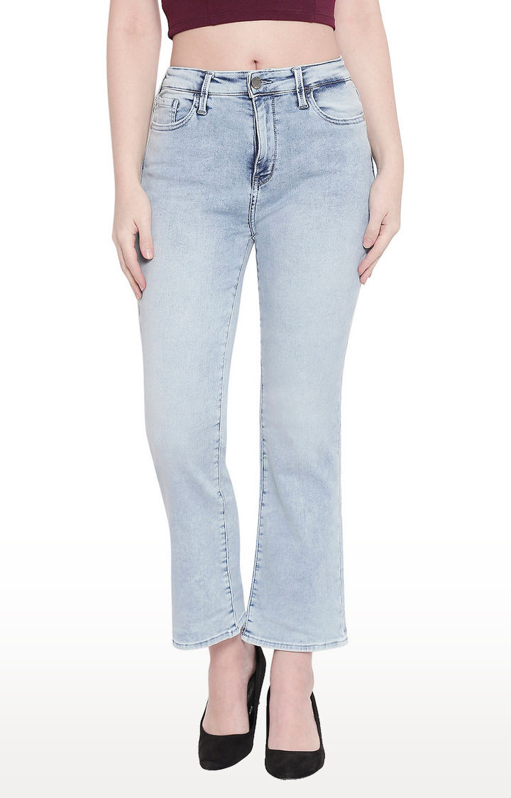 Light Blue High-Rise Bootcut Jeans