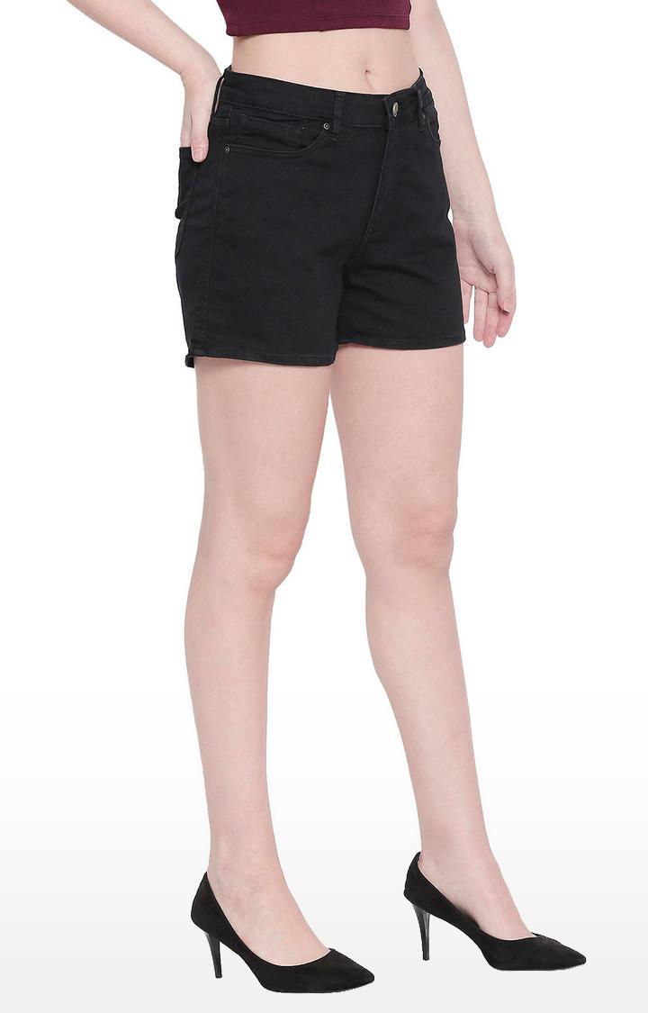 Black Cotton Shorts
