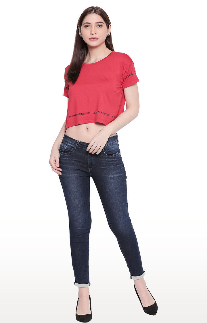 Red Crop Fit T-shirt