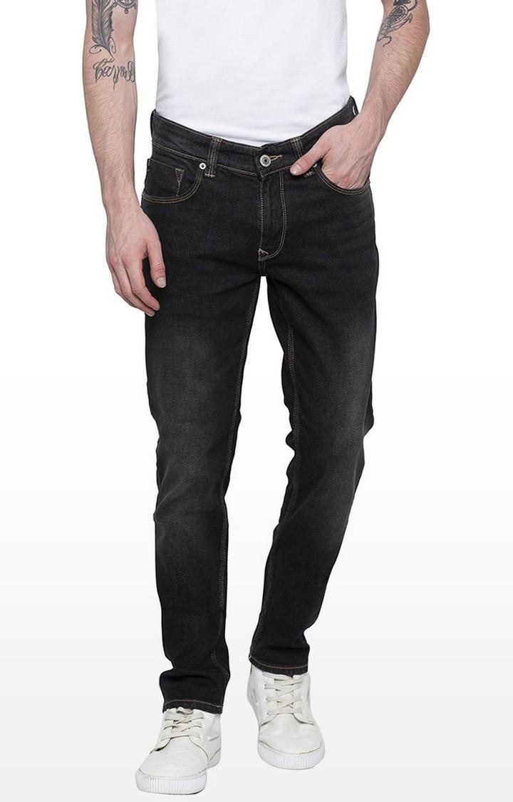 Spykar Carbon Black Solid Skinny Fit Jeans