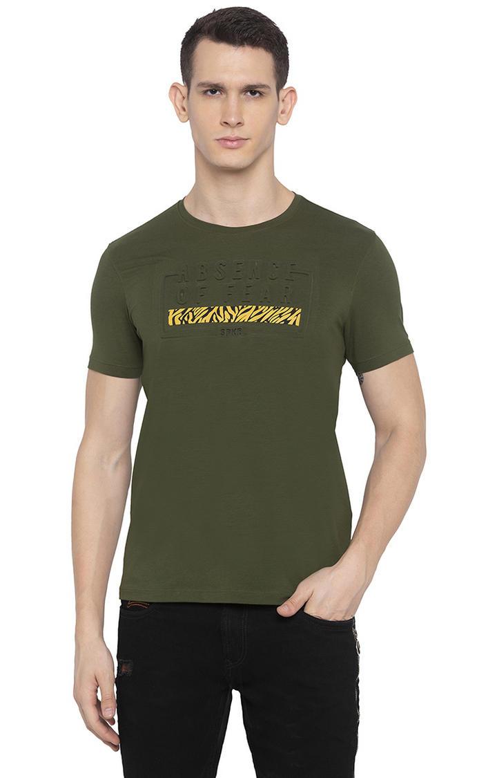 Olive Printed T-Shirt