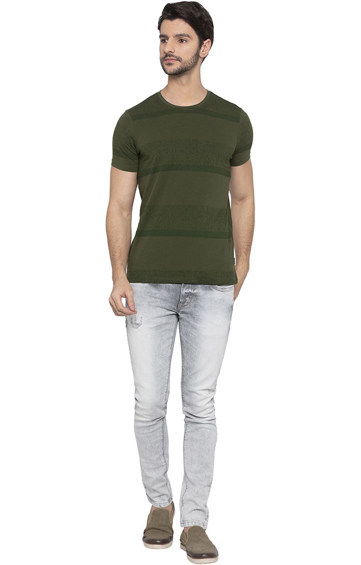 Olive Striped T-Shirt