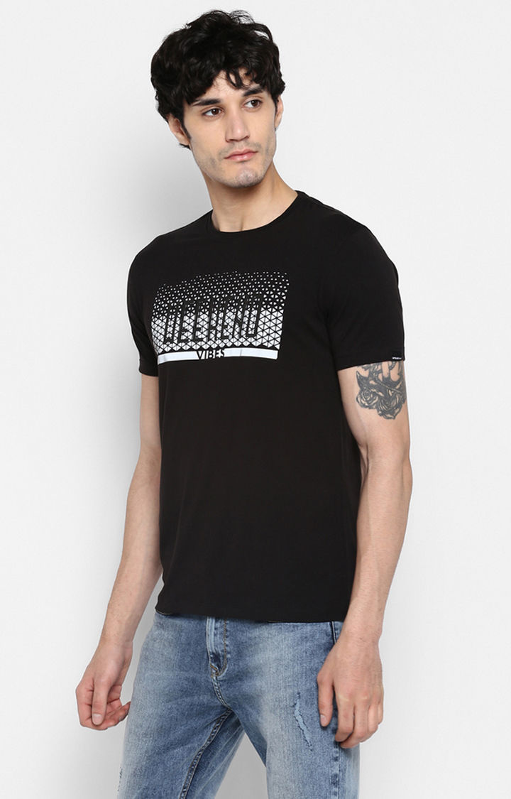 Jet Black Printed Shoe Liners T-Shirts