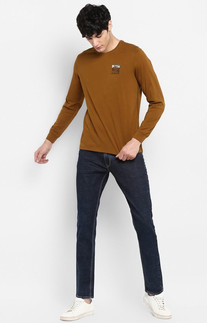 Dark Blue Solid Skinny Fit Jeans