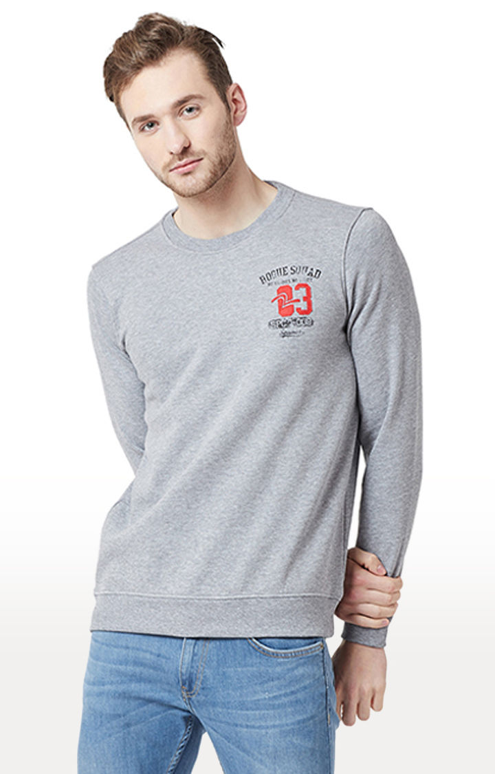 Grey Melange Slim Fit T-Shirts
