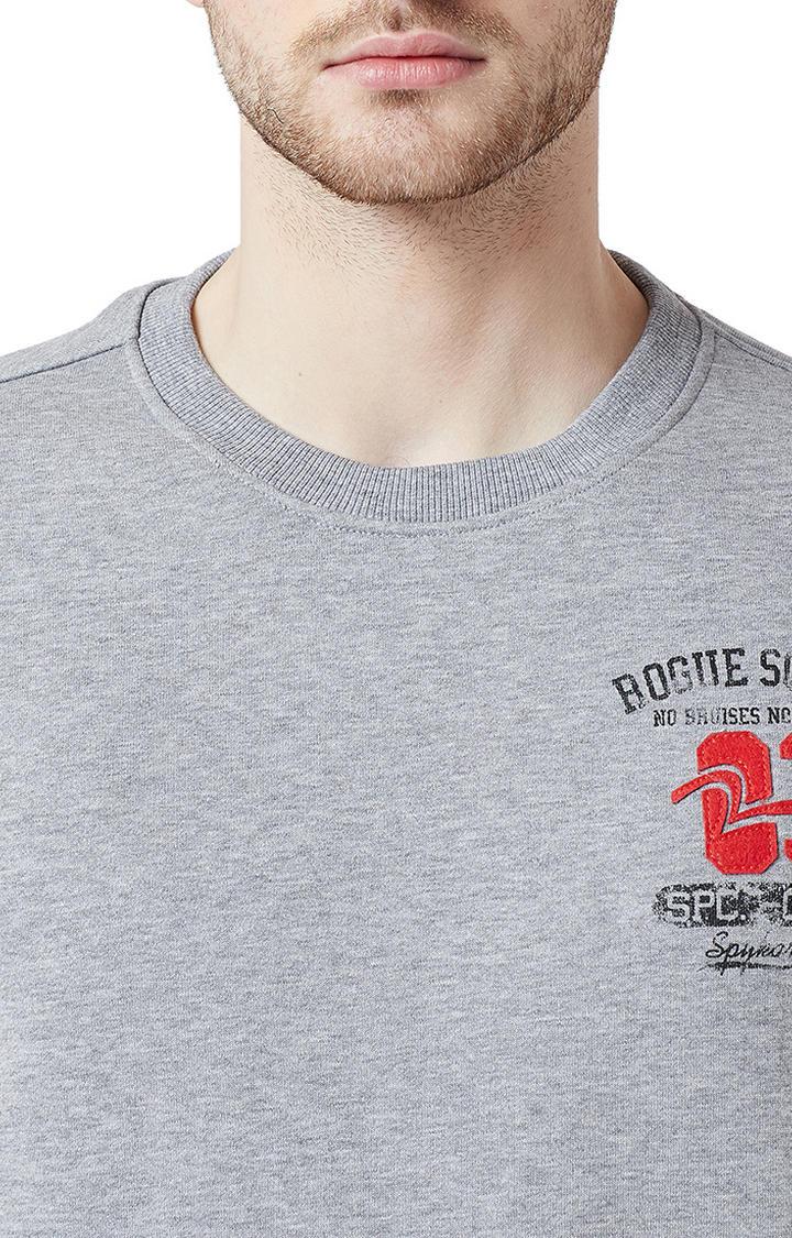 Grey Melange Slim Fit T-Shirts