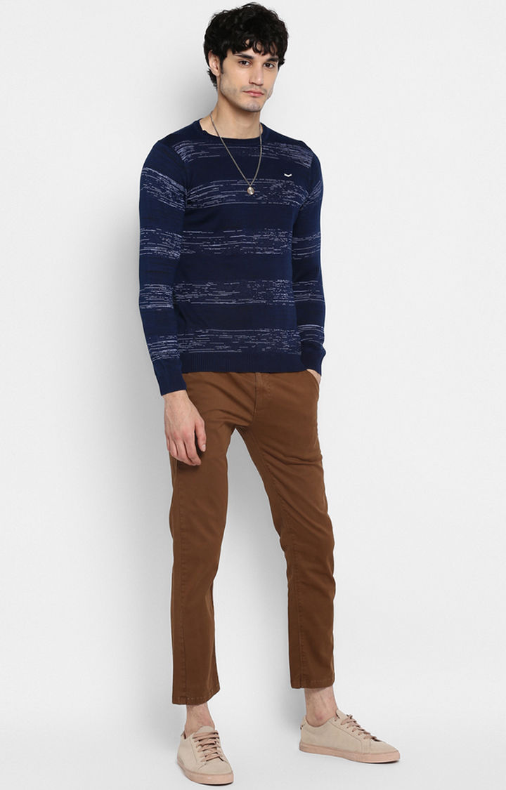 Indigo Striped Slim Fit T-Shirts