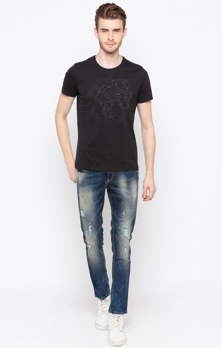 Dark Blue Ripped Super Skinny Fit Jeans