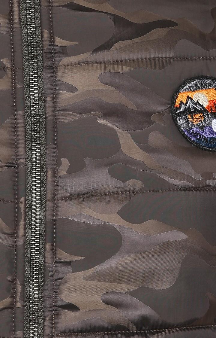 Olive Camouflage Slim Fit Bomber Jackets