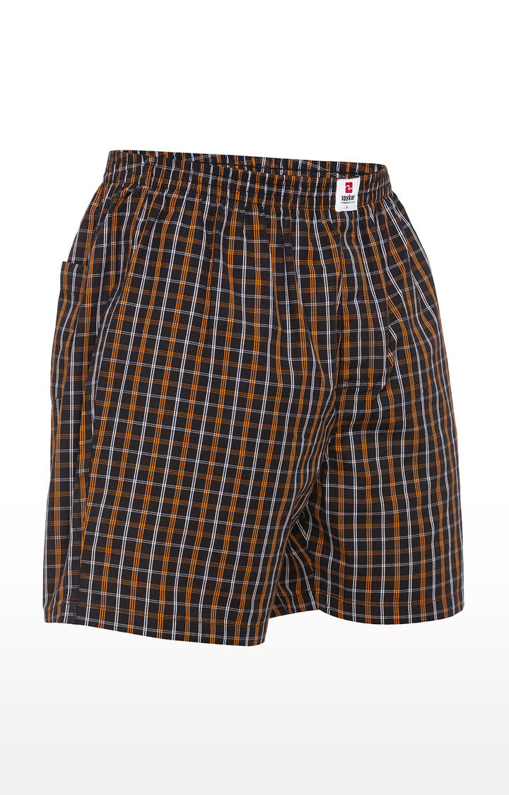 Brown Checked Slim Fit Boxers
